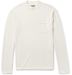 Saturdays NYC Ribbed Cotton Mock-Neck T-Shirt