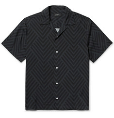 Saturdays NYC Woodblock Canty Camp-Collar Printed Voile Shirt