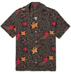 Saturdays NYC Batik Canty Camp-Collar Printed Cotton Shirt