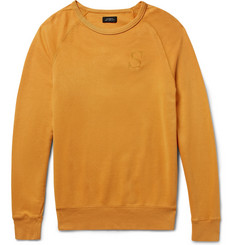 Saturdays NYC - Simon Embroidered Loopback Cotton-Jersey Sweatshirt