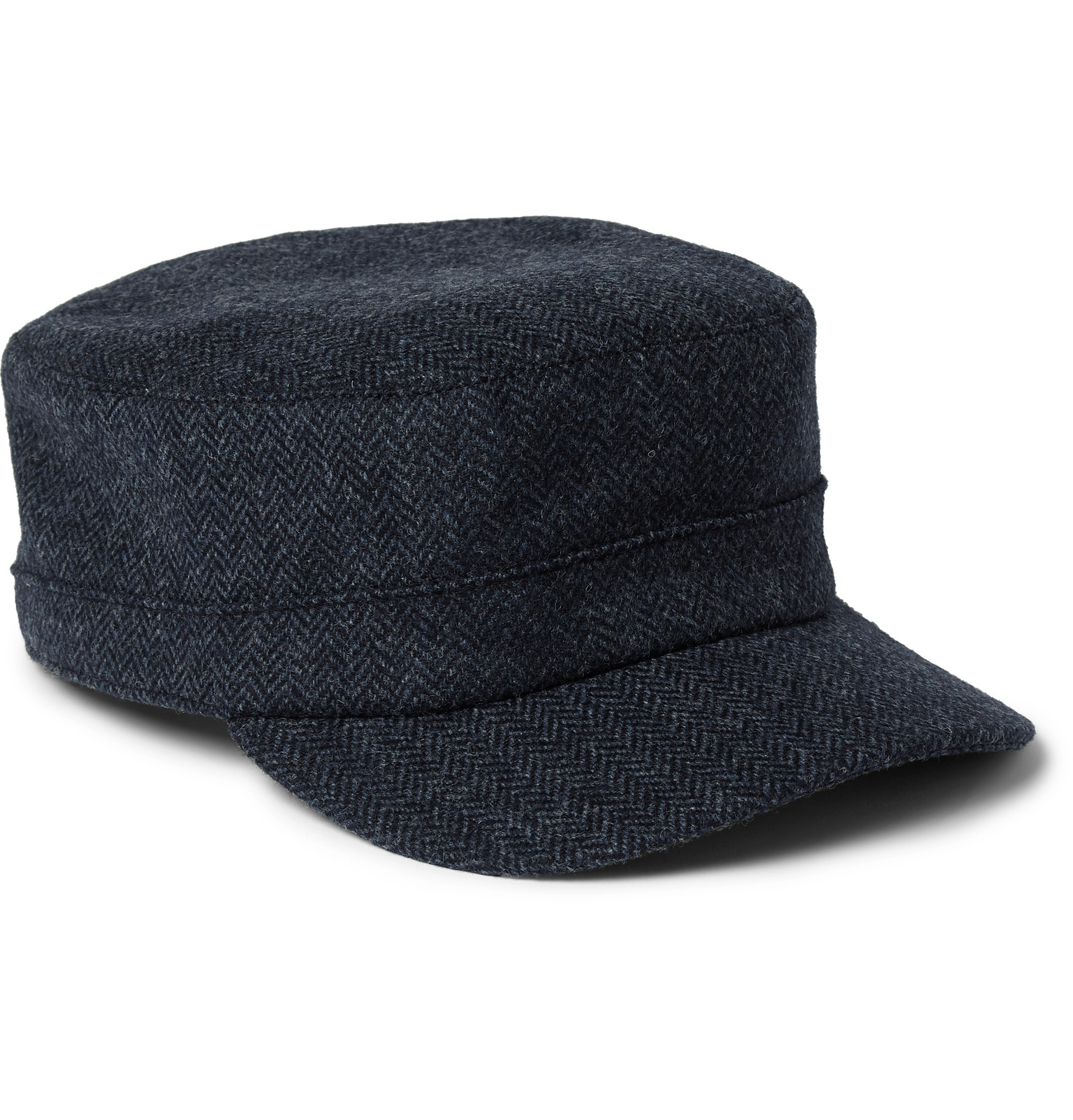 Herringbone Wool Cap Lock & Co Hatters CfPdWg