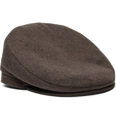 Lock & Co Hatters - Oslo Mélange Wool and Alpaca-Blend Flat Cap