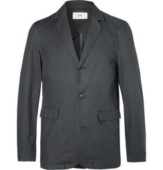 Folk - Grey Unstructured Cotton Blazer