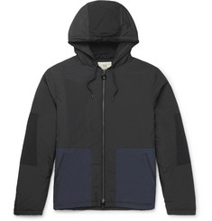 Folk Padded Two-Tone Shell Hooded Jacket
