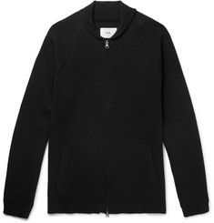 Folk - Milano Shawl-Collar Cotton and Wool-Blend Zip-Up Sweater