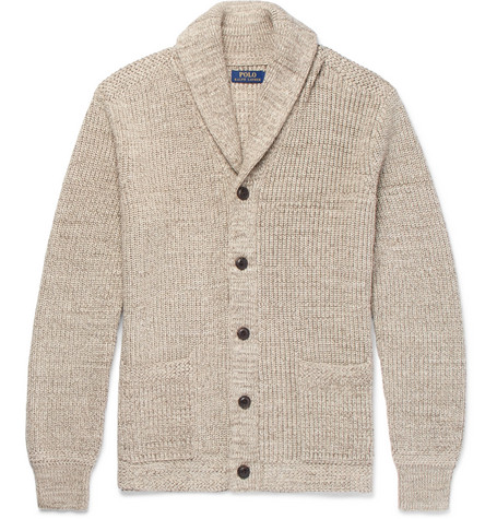 Comfortable For Sale Shawl-collar Ribbed Cotton Cardigan Polo Ralph Lauren Best Prices Online kLW2pjC