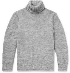 Polo Ralph Lauren - Mélange Wool and Cashmere-Blend Rollneck Sweater