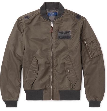 110089dd67 Polo Ralph Lauren Ma-1 Shell Bomber Jacket In Gray