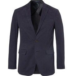 Polo Ralph Lauren Navy Brushed Stretch-Cotton Twill Blazer