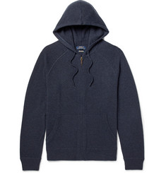 Polo Ralph Lauren Mélange Cashmere Zip-Up Hoodie