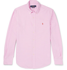 Polo Ralph Lauren Slim-Fit Button-Down Collar Gingham Cotton Oxford Shirt