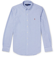 Polo Ralph Lauren Slim-Fit Button-Down Collar Checked Cotton Oxford Shirt