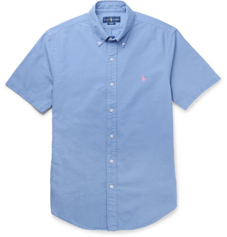 1cfb12851a2f Polo Ralph LaurenSlim-Fit Button-Down Collar Garment-Dyed Cotton Oxford  Shirt