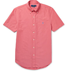 Polo Ralph Lauren - Slim-Fit Button-Down Collar Garment-Dyed Cotton Oxford Shirt
