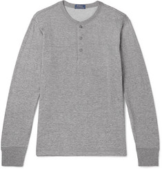 Polo Ralph Lauren - Mélange Cotton-Blend Jersey Henley T-Shirt