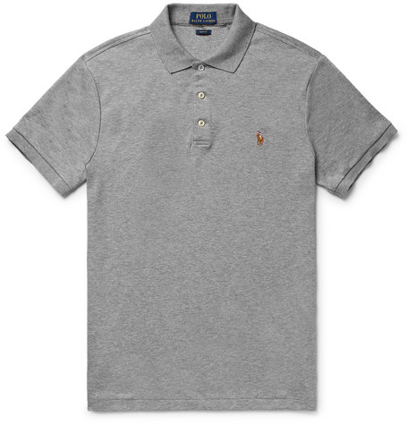 Ralph Lauren Slim-fit Pima Cotton-jersey Polo Shirt - White YW5D0f