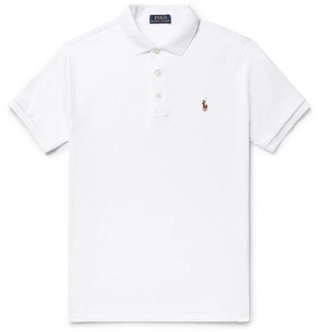 ralph lauren swimwear uk white slim fit polo shirt