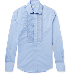 Valentino Pleated Gingham Cotton-Poplin Shirt