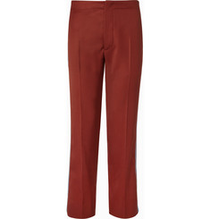 Valentino Grosgrain-Trimmed Virgin Wool Trousers