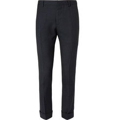 Valentino Slim-Fit Houndstooth Virgin Wool-Blend Trousers