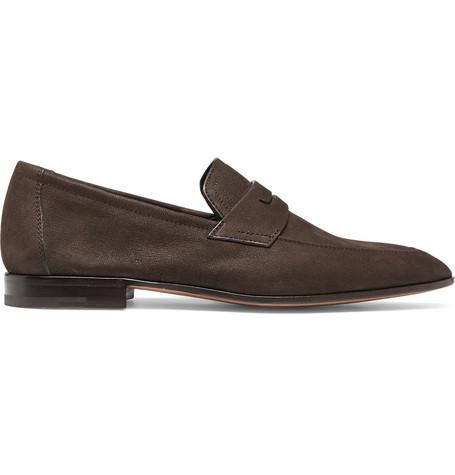 Lorenzo Leather Loafers - Dark brownBerluti JRkE6Q0l9