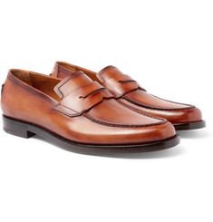 Berluti Gianni Burnished-Leather Penny Loafers