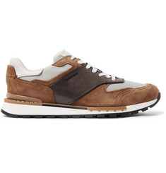 Berluti Fast Lane Leather, Suede and Nylon Sneakers
