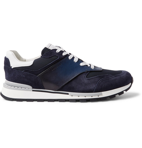 Run Track Torino Leather, Suede And Nylon Sneakers Berluti