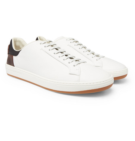 Fast Track Leather Brogue Sneakers - TanBerluti nOJK7mj