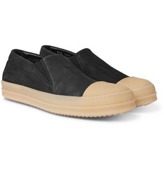 Rick Owens - Rubber Cap-Toe Suede Sneakers