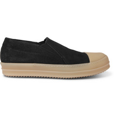 Rick Owens Rubber Cap-Toe Suede Sneakers