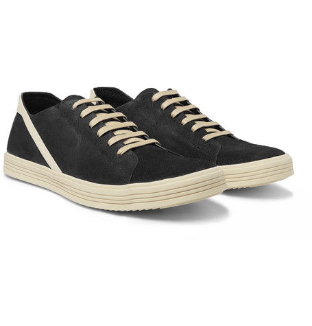 Geothrasher Leather-trimmed Suede Sneakers Rick Owens BbLkdf