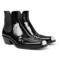 CALVIN KLEIN 205W39NYC - Glossed-Leather Chelsea Boots