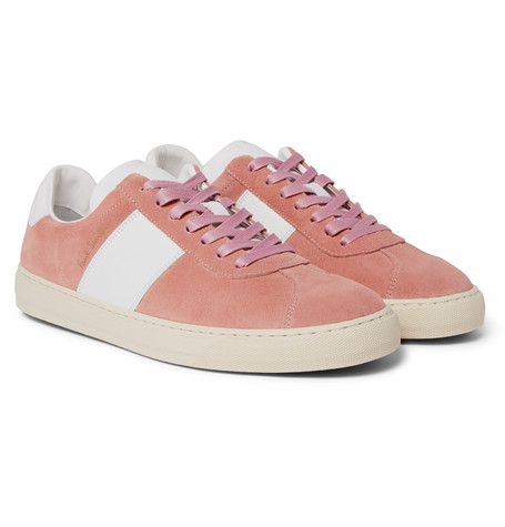 Levon Suede And Leather Sneakers by Paul Smith