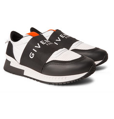 Givenchy - Active leather, mesh and shell sneakers