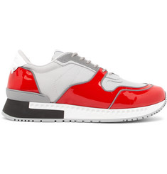 Givenchy Active Mesh and Patent-Leather Sneakers