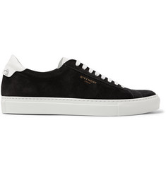 Givenchy Urban Street Leather-Trimmed Suede Sneakers