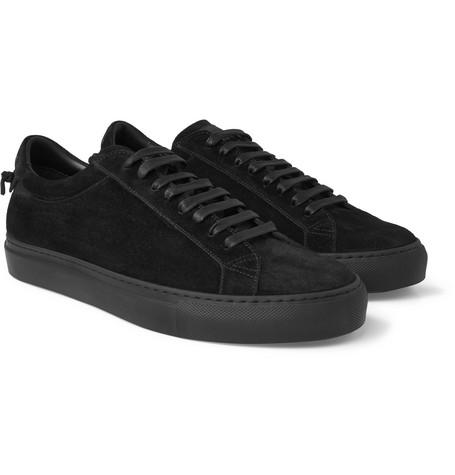 Urban Street Suede Sneakers - Black