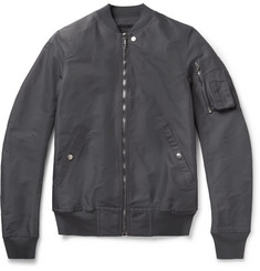 Rick Owens Tech-Canvas Bomber Jacket