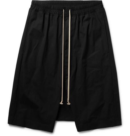 Pod Stretch Cotton Shorts by Rick Owens
