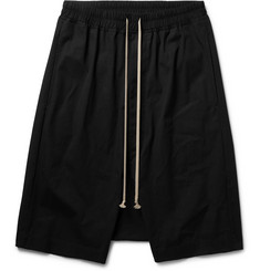 Rick Owens Pod Stretch-Cotton Shorts