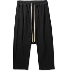 Rick Owens Cropped Woven Drawstring Trousers