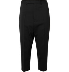 Rick Owens - Astaires Cropped Stretch Virgin Wool Trousers