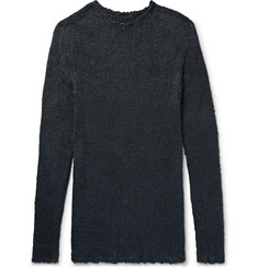 Rick Owens Oversized Raw-Edged Silk Sweater
