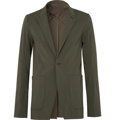 Rick Owens Dark-Green Slim-Fit Stretch Wool-Blend Blazer