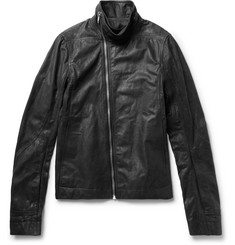 Rick Owens Mollino Slim-Fit Matte-Leather Biker Jacket