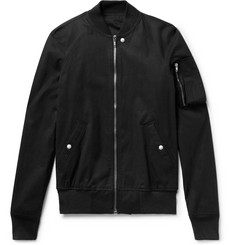 Rick Owens Raglan Stretch-Cotton Canvas Bomber Jacket