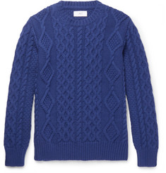 Mr P. - Cable-Knit Merino Wool and Cashmere-Blend Sweater