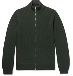 Mr P. - Ribbed Merino Wool Zip-Up Sweater