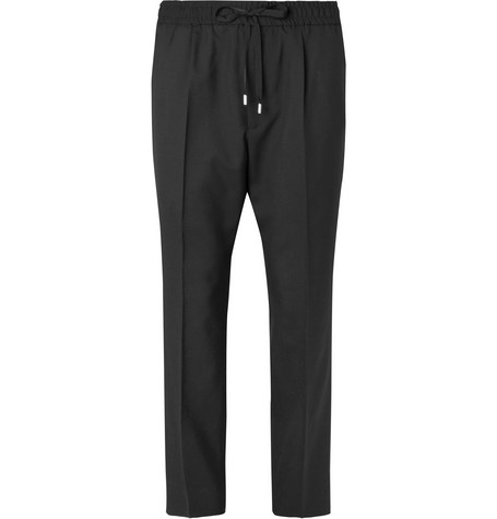 Tapered Wool Drawstring Trousers by Gucci